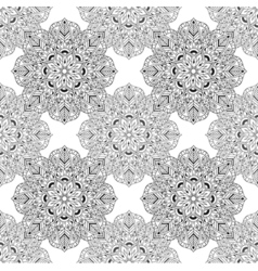 Zentangle mandala seamless pattern in doodle style vector