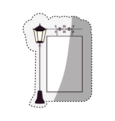 Empty frame with street light ornament vector image