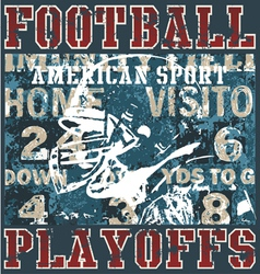 football playoffs vector image vector image