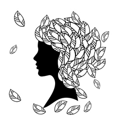 Hairstyles Silhouette vector image