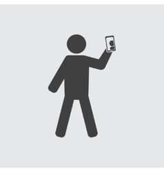 Man taking photo icon vector image vector image