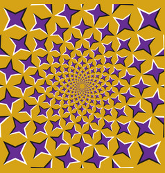 optical background purple four pointed stars are vector image vector image