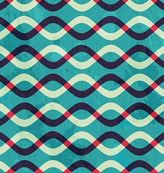retro curve seamless pattern with grunge effect vector image vector image