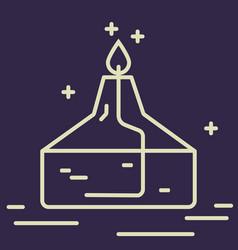 alcohol burner line icon chemical laboratory vector image