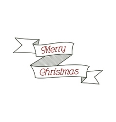 Happy christmas typography wish sign vector