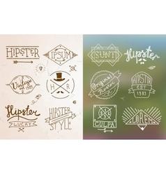 Hipster vintage emblem vector image
