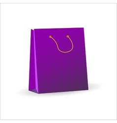 3d of a violet shopping bag vector image