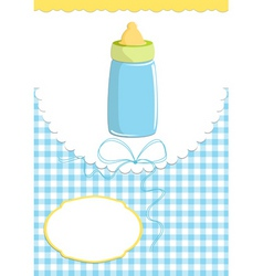 babie card with bottle vector image vector image