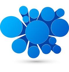 Bubble blue infographics design vector image