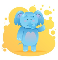 Cute cartoon elephant toy card vector image vector image