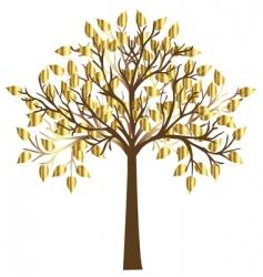 golden tree vector image vector image