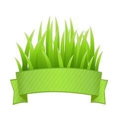 Grass banner vector