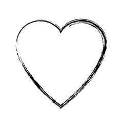 heart love romance passion adorable symbol vector image