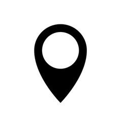 pin drop icon vector image vector image