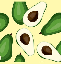 seamless avocado pattern tile green vegetable vector image