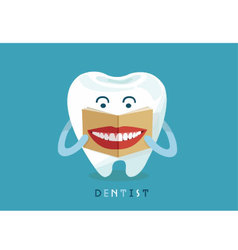 Tooth reading smile magazine vector image vector image