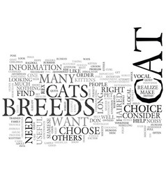 Which of these cat breeds is the right one for vector