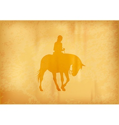 background with horse riding vector image vector image