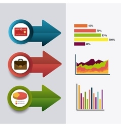 Business growth and money savings statistics vector image