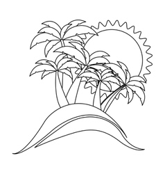 contour background beach flat icon vector image