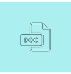 DOC file extension icon vector image