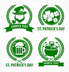 st patrick s day symbols vector image