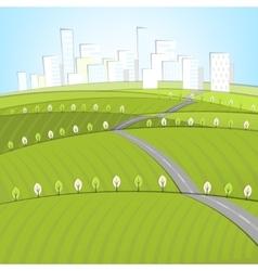 01 Eco Roads City landscape vector