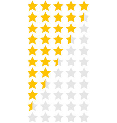 5 stars with halves vector
