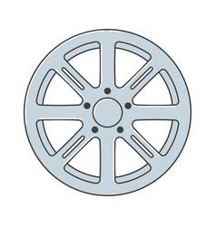 Alloy wheel car rims vector