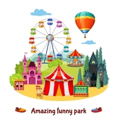 Amusement Park Composition vector image