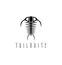 Arthropod fossil trilobite paleozoic era design vector