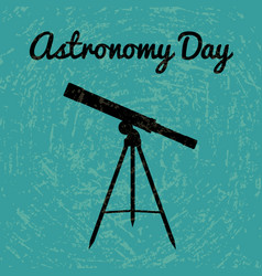 astronomy day silhouette of a telescope vector image