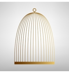Bird cage sign Flat style icon vector image