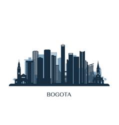 bogota skyline monochrome silhouette vector image