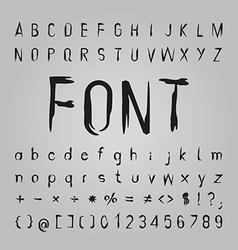 Bone Font Design vector image