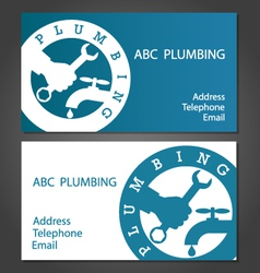 Business cards for plumbers vector