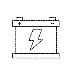 car battery accumulator energy power and vector image