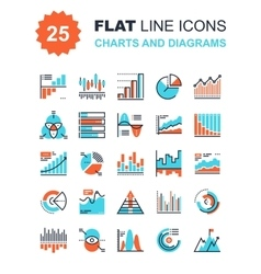 Charts and Diagrams vector image