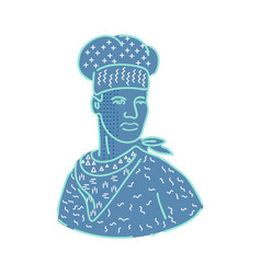 chef or baker memphis style vector image