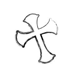 christianity cross symbol vector image vector image