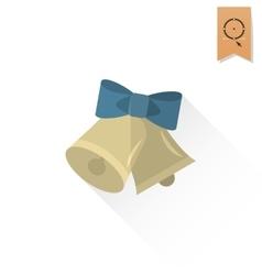 Christmas Bells Retro Color vector image
