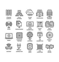 Cloud computing internet technology online vector