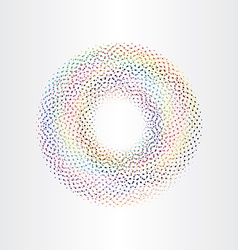 colorful background circle with squares rainbow vector image