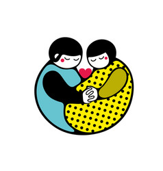couple of two people in love art vector image