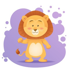 Cute cartoon lion toy card vector