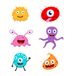 Cute monster cartoon collection set vector