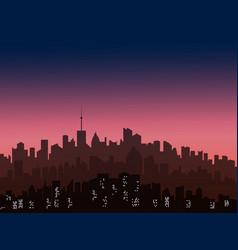 decorative horizontal morning landscape of modern vector image