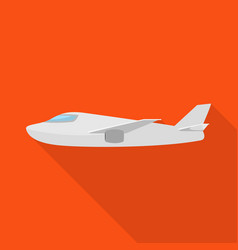 Design plane and white symbol vector