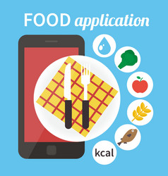 Diet food application Calorie counter app vector