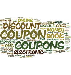 electronic discount coupon book text background vector image